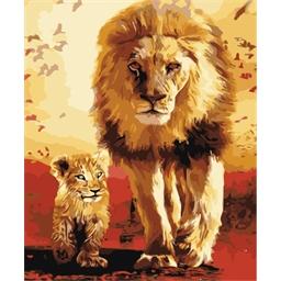 Peinture par numéros Lions, père et fils
