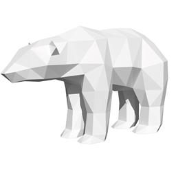 Kit sculpture en papier Ours blanc