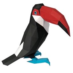 Kit sculpture en papier Toucan
