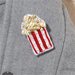Kit broche perles à broder Pop-corn