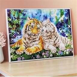 Kit perles à coller Diamond Dotz® Le couple de tigres