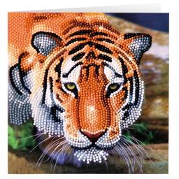 Kit carte perles à coller Tigre