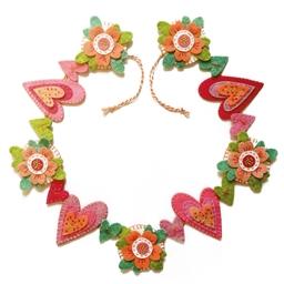 Kit couture déco en feutrine guirlande de fleurs