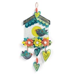 Kit couture déco en feutrine nichoir fleuri