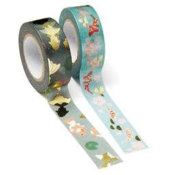 Masking tape carpes koï Fond turquoise ou orage