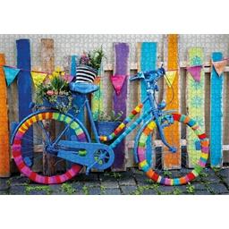 Puzzle 1000 pièces Mon vélo multicolore