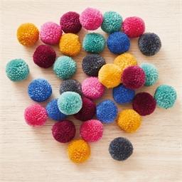 Lot de 24 pompons Multicolores