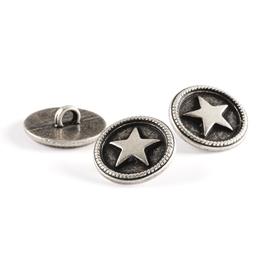 Lot de 18 boutons étoile métal