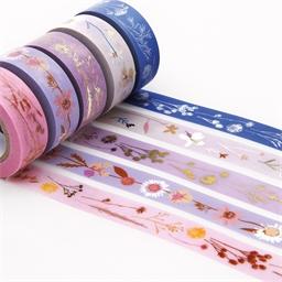 Set de 5 masking tape fleurs séchées