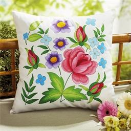 Set de 2 coussins à colorier Fleurs des champs