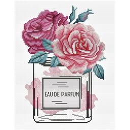 Kit point de croix Eau de parfum rose