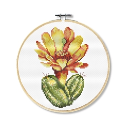 Kit point croix cactus jaune