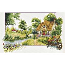 Kit point de croix Un été au cottage