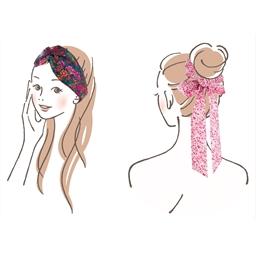 Kit couture Liberty chouchou et headband