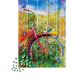 Puzzle 1000 pièces Oiseaux sur la bicyclette