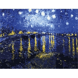 Peinture par numéros Nuit étoilée sur le Rhône - Van Gogh