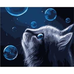 Peinture par numéros Chat dans les bulles