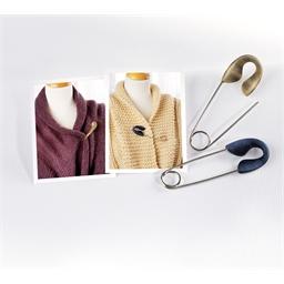 Epingle attache tricot Bleuté ou Beige
