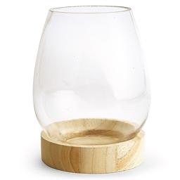 Vase sur socle en verre à personnaliser