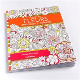 Carnet de fleurs anti-stress à colorier