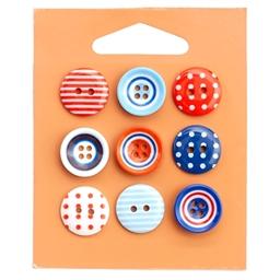 Lot de 9 boutons assortis marine