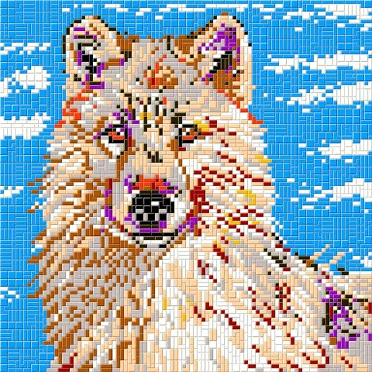 Mosaïc Art XL : Loup