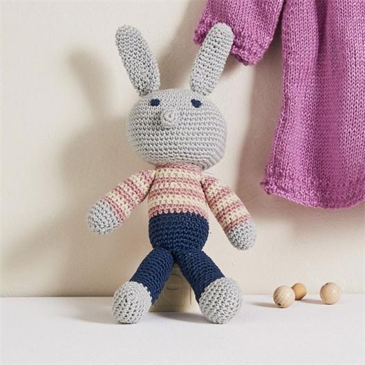 Kit doudou lapin à tricoter