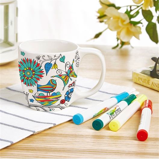 Mug nature à colorier + feutres