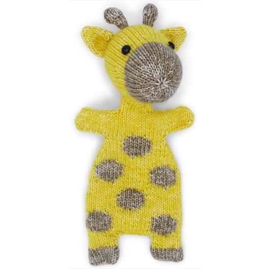 Kit doudou tricot Girafe