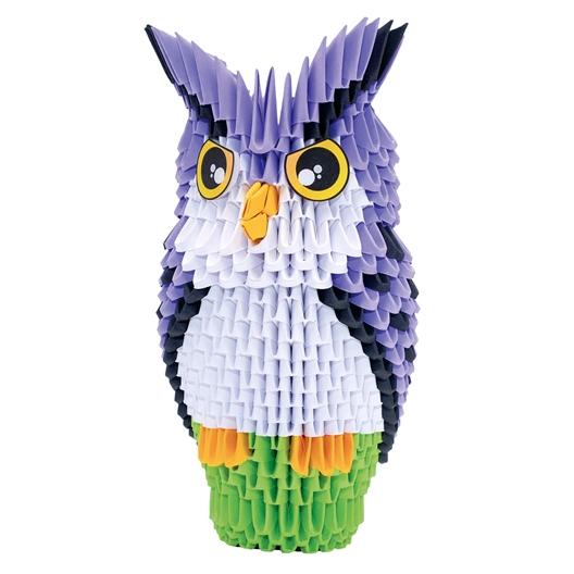 Kit origami 3D Hibou