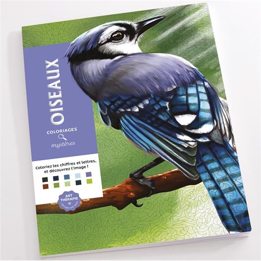 Livre : coloriages oiseaux mystères