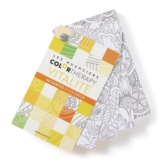 Cartes à colorier color therapy Vitalité