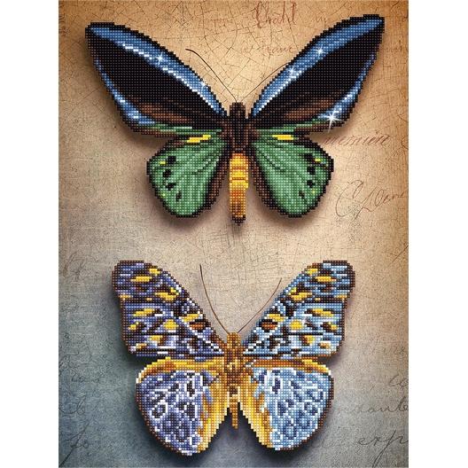 Kit perles à coller Diamond Dotz® sur toile Papillons