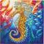 Kit carte perles à coller Hippocampe
